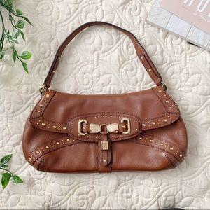 Cole Haan Brown Studded Small Handbag